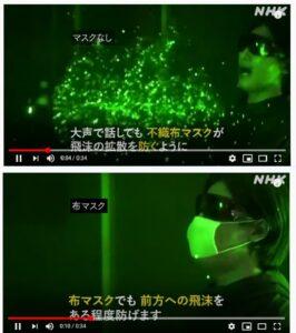 新型コロナウイルス対策_マスク着用有無 NHK動画